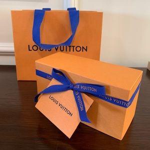 LV Sunglasses Box and Bag